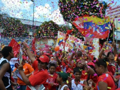 Venezuelans rally for Chavez