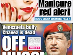 "On March 6, the New York Post described Chavez as the ""Venezuela bully"""