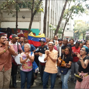 The march ended at Venezuela's National Pantheon (Ricardo Vaz)