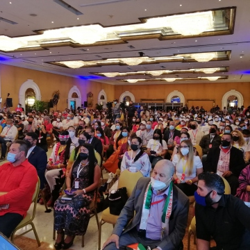 The Bicentenary Peoples' Congress, featuring dozens of international solidarity movements, accompanied Venezuela's 200th-anniversary celebrations of the Battle of Carabobo. (Twitter / @Adan_Coromoto)