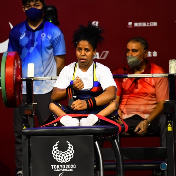 Fuentes' silver win is also Venezuela's first powerlifting medal in the history of the country's participation in the Paralympic Games. The 24-year-old is fourth in the world ranking. (Twitter / @TeamRojas45)