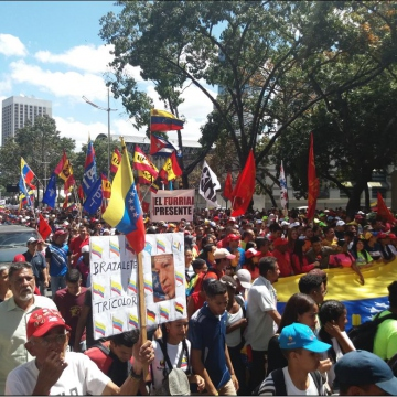 Several youth organizations were present at the march, chief among them was the youth wing of the ruling United Socialist Party (Ricardo Vaz)