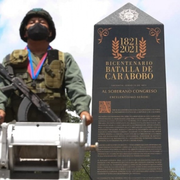 Venezuela celebrated the bicentenary of the Battle of Carabobo with a range of events, including the traditional civic-military parade that also commemorates Army's Day. (Twitter / @VTVcanal8)