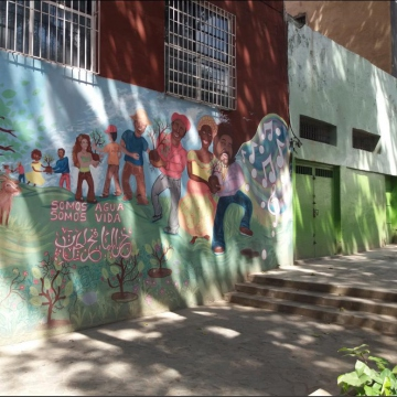 Mural in Ali Primera square in Caracas (Ricardo Vaz)