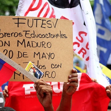 Workers and educators express support for Maduro May Day 2018 (Credit:  Eduardo Viloria Daboín/CBRZ.org)