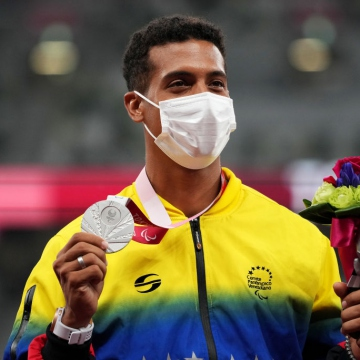 On August 31, Luis Rodríguez was the second Venezuelan to win silver in the Tokyo 2020 Paralympic Games after Lisbeli Vera. (Twitter / @juegosolimpicos)