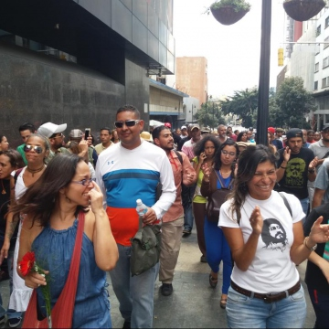 Venezuelan artists marched to honor Ali Primera (Ricardo Vaz)