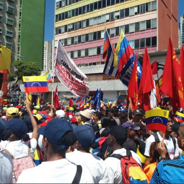 The march was held in Av. Universidad, before turning towards Caracas' Plaza Bolivar (Ricardo Vaz)