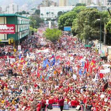 Massive mobilization in support of the Bolivarian Revolution, workers rights and President Maduro, May Day 2018 (Credit:  AVN)