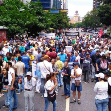 The opposition's Broad Front for a Free Venezuela also held a concentration in the East side of Caracas, May Day 2018 (Credit:  El Nacional)