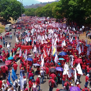 It began as a series of different marches from different points in Caracas, this one from El Valle district, before all meeting togethor in the center. (Katrina Kozarek)