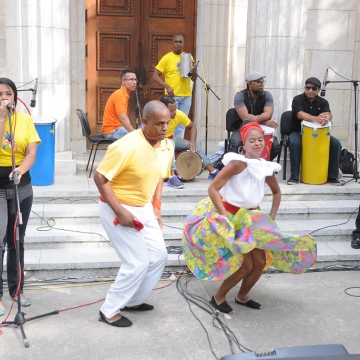 "The ""Route of the Drums"" was also staged by Caracas Mayor Erika Farias, in which Afro-Venezuelan traditions of resistance were brought to life with music and demonstrations in the Cultural Garden of Caracas by  the legendary Grupo Madera. (IAEM Press)"
