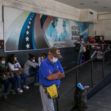 Venezuela's health system, including the Doctor Jose Maria Vargas Hospital in Caracas, is also under excessive strain. Recent brain drain, accumulated economic recession, and US-led sanctions have hit the system hard in recent years, and many doubt its capacity to deal with the pandemic. (Cristian Hernandez, AFP)