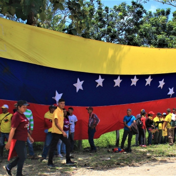 Activists and militants arrived from Lara, Apure, Caracas and Barinas