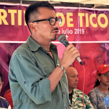 Orlando Zambrano, constituent assembly deputy and militant of CRBZ