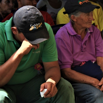 Tears were shed at the event.(Katrina Kozarek / Venezuelanalysis.com)