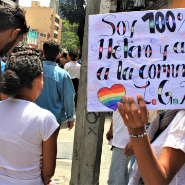 Heterosexual allies expressed their support for the for the LGBTQI community.