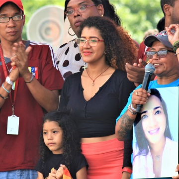 Ronny Ortega was honored in the Pride March.  Ronny was a trans activist and the first trans woman elected Deputy of the Legislative Council of Aragua state.  She died in an accident last February.