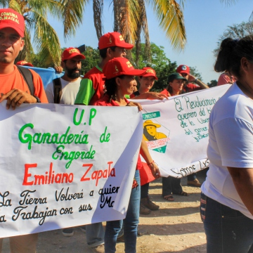 Anniversary of El Maizal Commune: Emiliano Zapata production unit