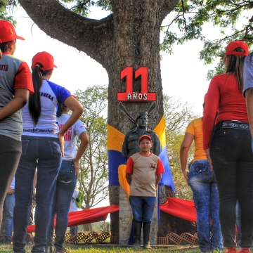 Anniversary of El Maizal Commune: Symbolic act of conmemoration
