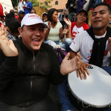 The rally was full of colour and music as the Venezuelan electoral 'party' begins. (Gregorio Terán/AVN)