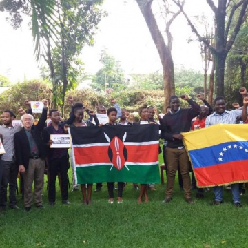 Students And Activists In Nairobi Support Venezuelan People