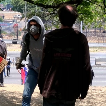 Meanwhile opposition protestors turned ever more violent in east Caracas. (Katrina Kozarek)