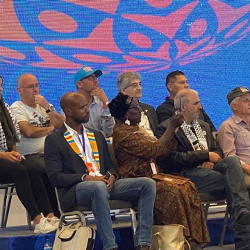 There was also a strong Caribbean and Afro-American contingent at the forum, as well as significant representation from the Middle East. (Paul Dobson / Venezuelanalysis)