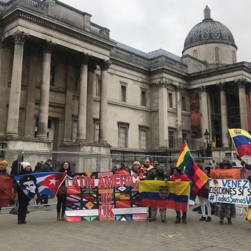 Concentration in London Against Intervention In Venezuela