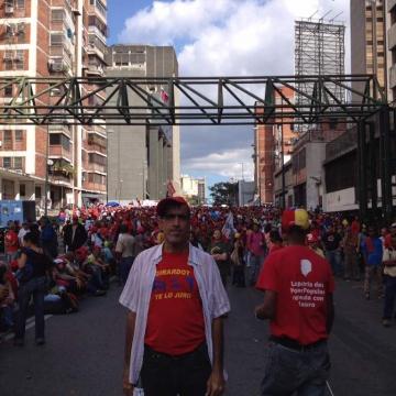 Venezuelans show their support for Maduro