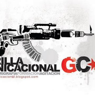 The logo of Venezuela's Communicational Guerrilla. Images, stencils and other tools/tips on how-to produce popular art forms are available at their website: