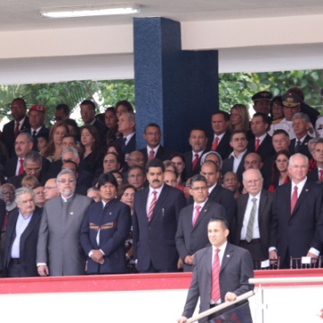 Presidents, prime-ministers, and foreign ministers from Latin America and the Caribbean were present, together with Venezuelan ministers and other Venezuelan authorities (AVN)
