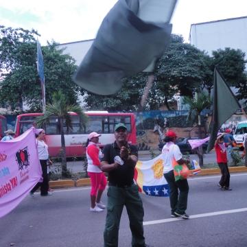 A member of the revolutionary barrio, 23 de enero (Rachael Boothroyd/Venezuelanalysis)