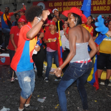 In case you hadn't gathered, Chavistas really like dancing... (Rachael Boothroyd/Venezuelanalysis.com)