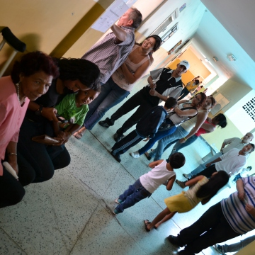 Inside a voting centre, Gabriela Mistral School, in 23 de Enero barrio, Caracas (Ryan Mallet-Outtrim)