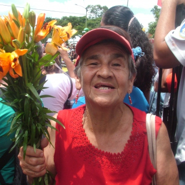 """I'm waiting for my president,"" Elda Herndez of 23 de Enero, Caracas (Tamara Pearson / Venezuelanalysis.com)"
