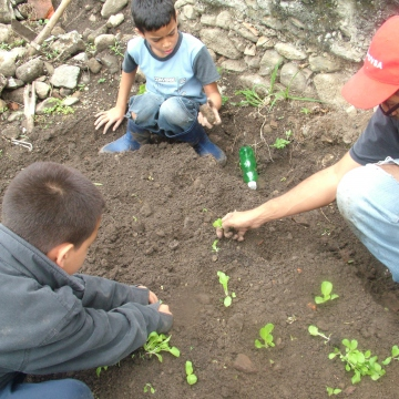 The idea is also to learn as we work- rather than lessons in a classroom, we work the garden and our CIARA helper teaches us about the plants, about how to grow different plants together so they help eachother, and other neighbours chip in their own knowledge too.