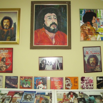 The museum is full of artwork and Primera's discography