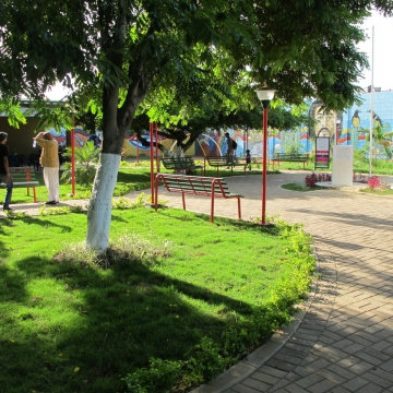 Outside the museum is an open garden and amphitheater used for music performances. Several concerts were planned for this week to celebrate Primera's birthday.