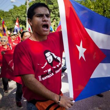 Rally in support of Chavez in Havana, Cuba (EFE)