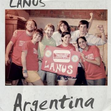 Supporters in Lanus, Argentina