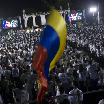 Supporters gather for a vigil in Managua, Nicaragua (AP)