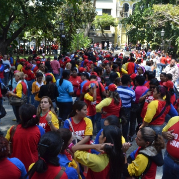 Plaza Bolivar in Caracas (Ronald Romero/ Noticias24)
