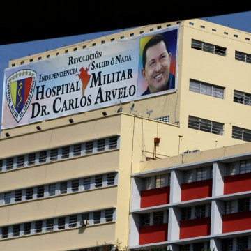 Dr. Carlos Arvelo Military Hospital, where Chavez is being treated (AP)