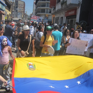 The anti-bullfighting march in Merida (Ewan Robertson/Venezuelanalysis.com)