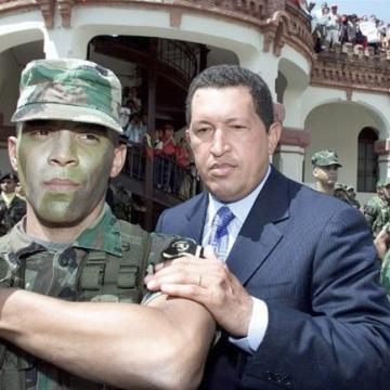 On April 11, 2002, Chavez was briefly ousted by a coup. Led by the wealthy businessman Pedro Carmona, the plotters seized the presidential palace, kidnapped Chavez and abolished the new constitution. A small committee was established to run the country, with Carmona declaring himself interim president. The coup received US backing, but enjoyed very little support amongst the Venezuelan population. On April 14, Chavez was rescued by loyal soldiers, and returned to power. (Reuters)