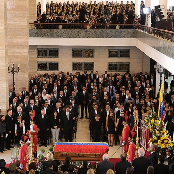 World leaders and celebrities formed a guard of honour. (Marcelo Garcia/AFP/Getty Images)
