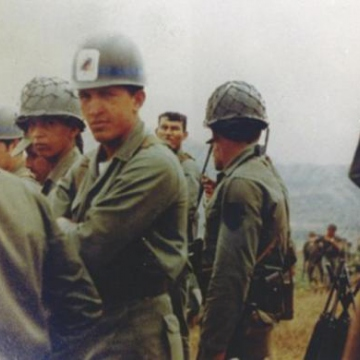 During his early military years, Chavez became increasingly frustrated by the army's corruption, and use of torture. In 1977, he founded the Venezuelan People's Liberation Army (ELPV),  a small group of soldiers that secretly met with civilian leftist revolutionaries. Five years later, he would form the Revolutionary Bolivarian Movement- 200 (MBR-200). (Reuters/Ministry of Information and Communication)