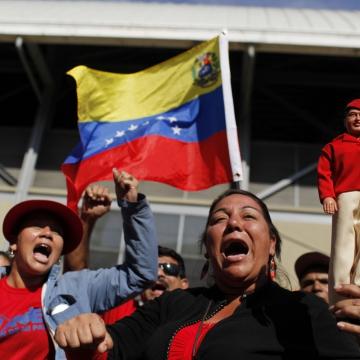 Many Chavistas continued to grieve. (AP Photo/Rodrigo Abd)