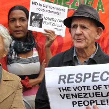 Solidarity action on April 19 in Sydney, Australia. (Australia Venezuela Solidarity Network)